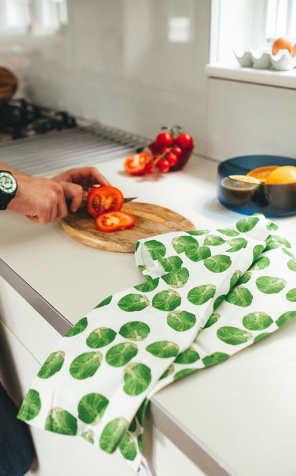 White Sprout Tea Towel