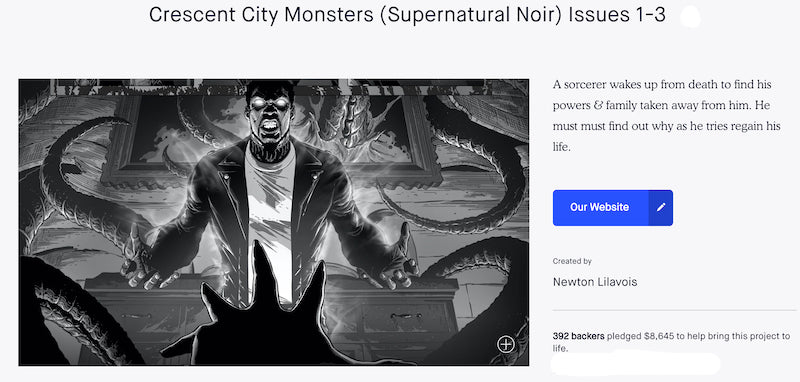 Kickstarter Campaign for Crescent City Monsters