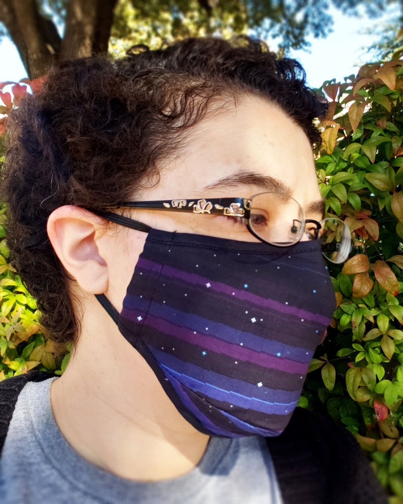 Full Sky Mask Set : Pixel Blue/Sunset/Night Sky, Blue/Light Pink/Black