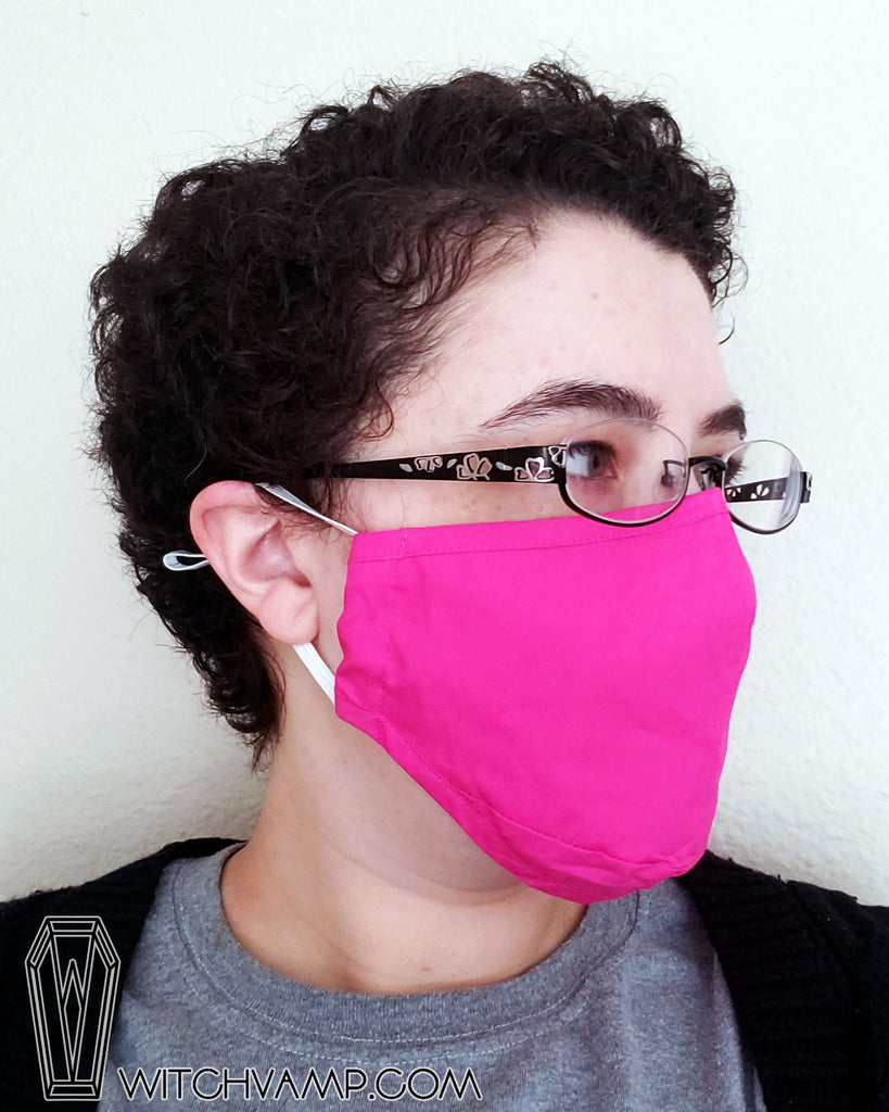 Pink Mask Set : Hot Pink, Light Pink, Black