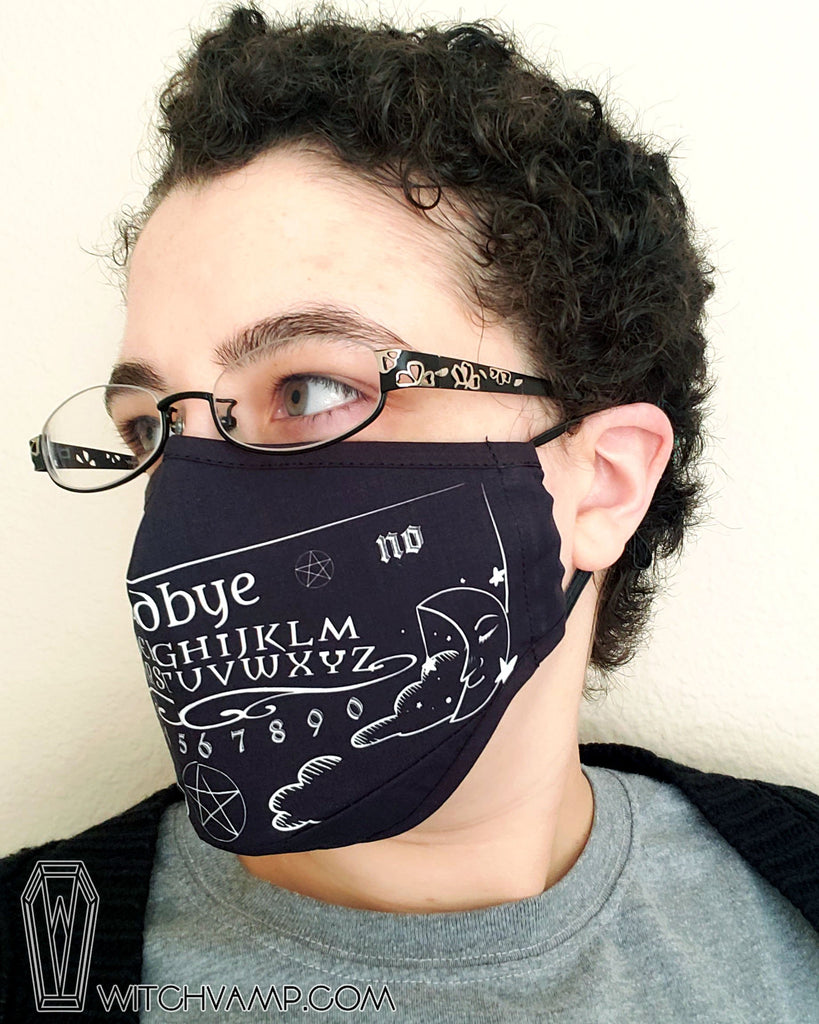 Ouija Board Face Mask - Cotton Face Mask With Filter Pocket and 2 Inserts
