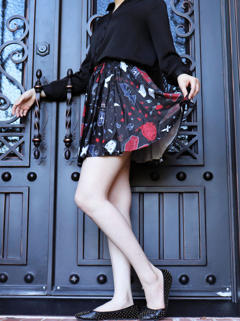 Vampire Night Skirt With Pockets