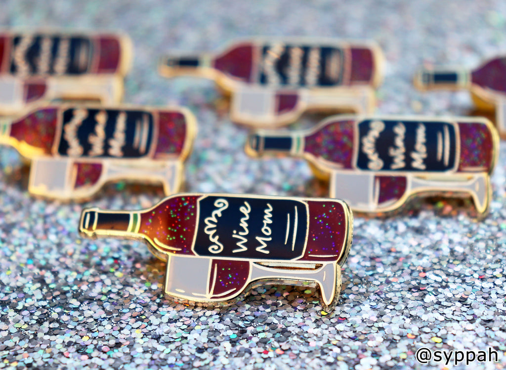 Wine Mom Enamel Pin