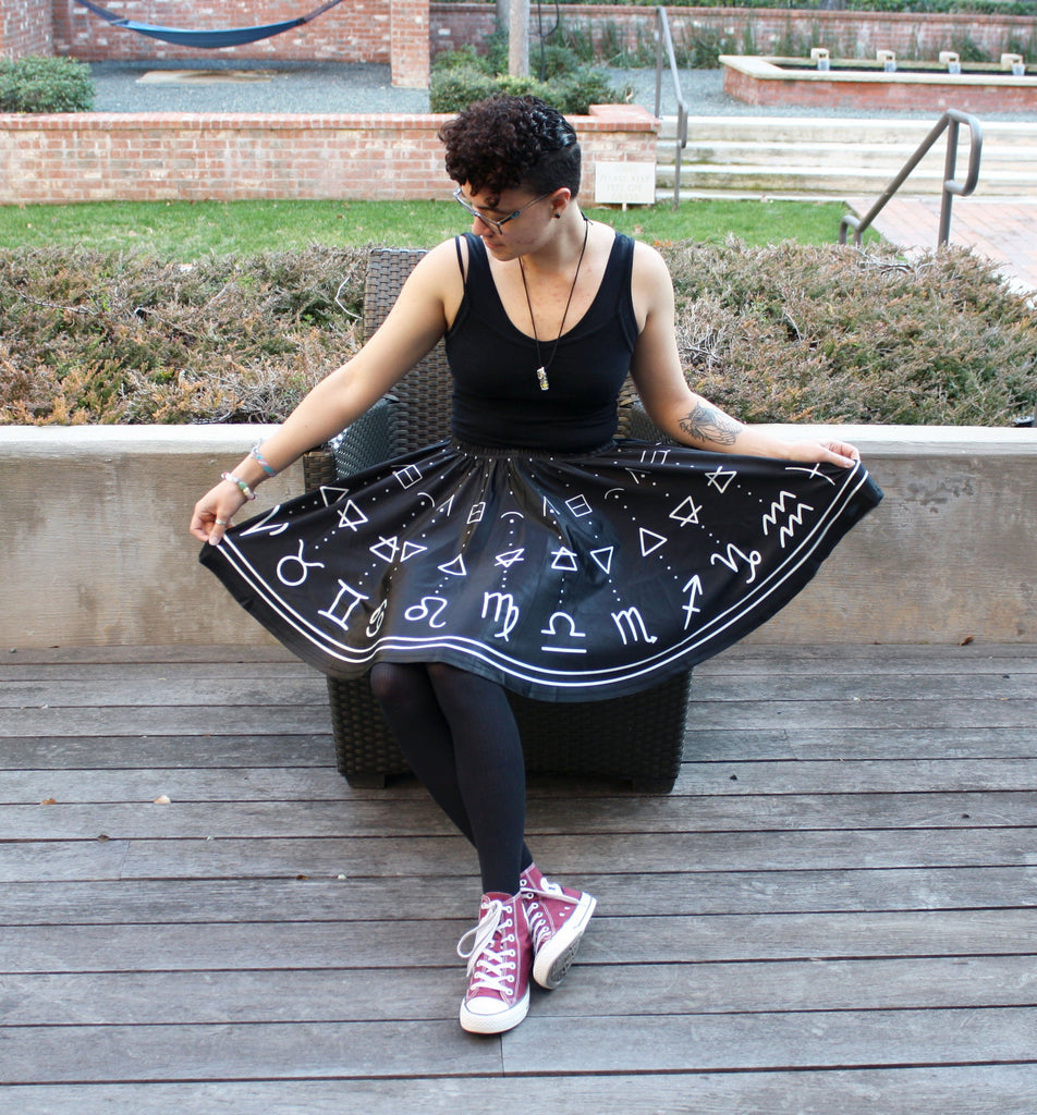 Astrology Skirt with Pockets