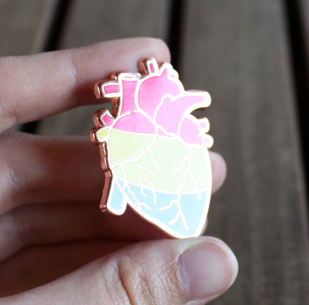Pan Pride Heart Enamel Pin