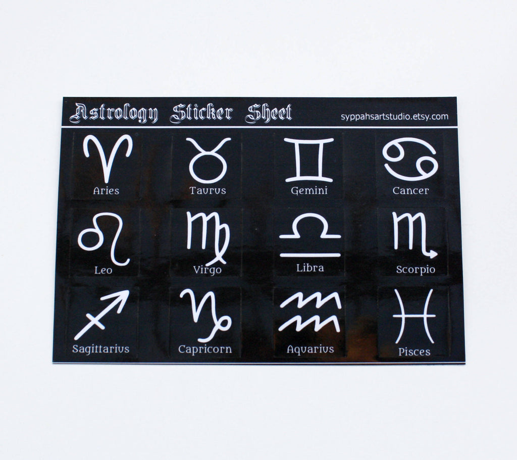 Astrology Sticker Sheet
