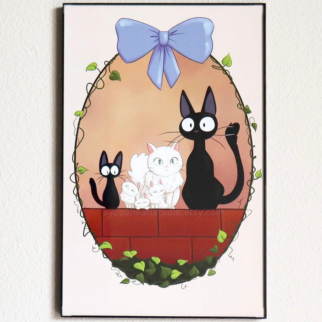 Jiji and Family - Kiki's Delivery Service - 11x17 Print