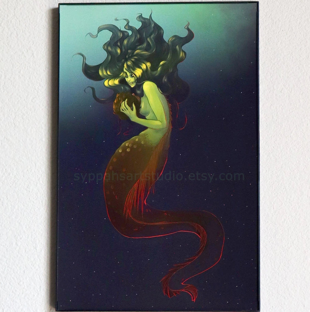 Dark Mermaid - 11x17 Print