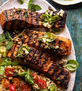 Greek Spiced Grilled Salmon