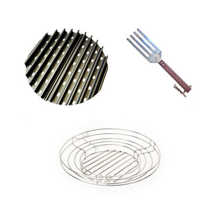 Premier/Pro Grill Grate Combo - Includes Grill Grate, Lifting Tool and Wide Charcoal Basket