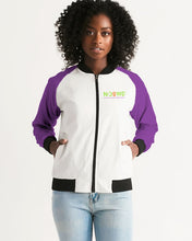 Load image into Gallery viewer, Purple Logo Women's Bomber Jacket