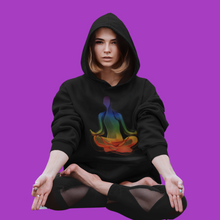 Load image into Gallery viewer, Black Chakra Unisex Hoodie