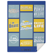 Load image into Gallery viewer, Blue Positive Affirmation Blanket