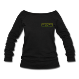 Confidence Wideneck Sweatshirt - black