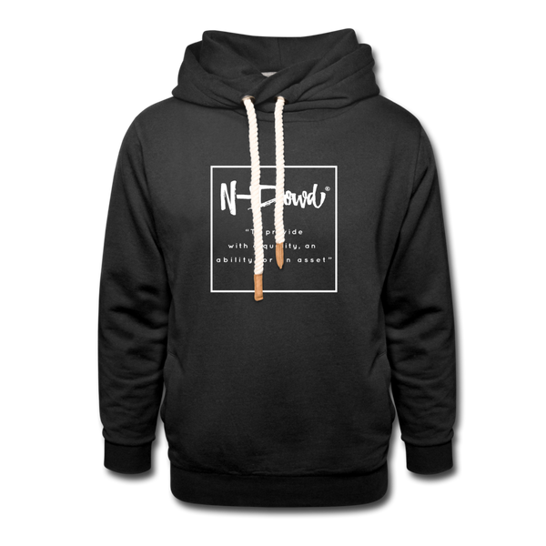 Definition unisex Shawl Collar Hoodie - black
