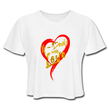 Load image into Gallery viewer, Love Cropped Tee - white