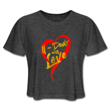 Load image into Gallery viewer, Love Cropped Tee - deep heather