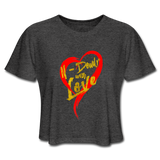 Love Cropped Tee - deep heather