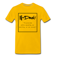 Load image into Gallery viewer, Definition unisex Tee - sun yellow