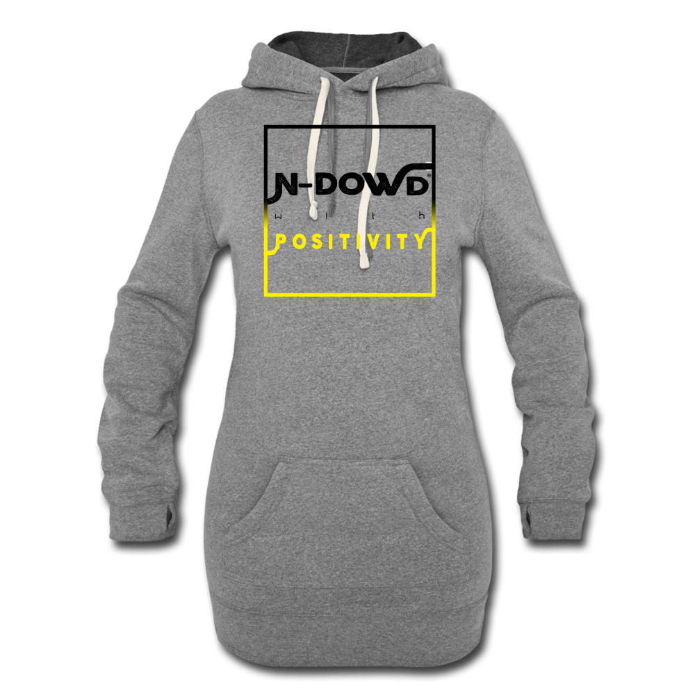 Positivity Hoodie Dress - heather gray