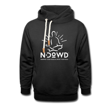 Load image into Gallery viewer, Logo Shawl Collar Hoodie - black