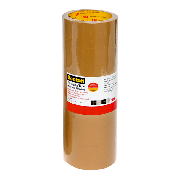Scotch OPP TAPE BROWN (1.88 Inch X43.7Y.) 6 roll x1 pack