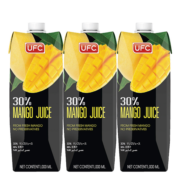 UFC 30% MANGO JUICE 1000 ml x3 box