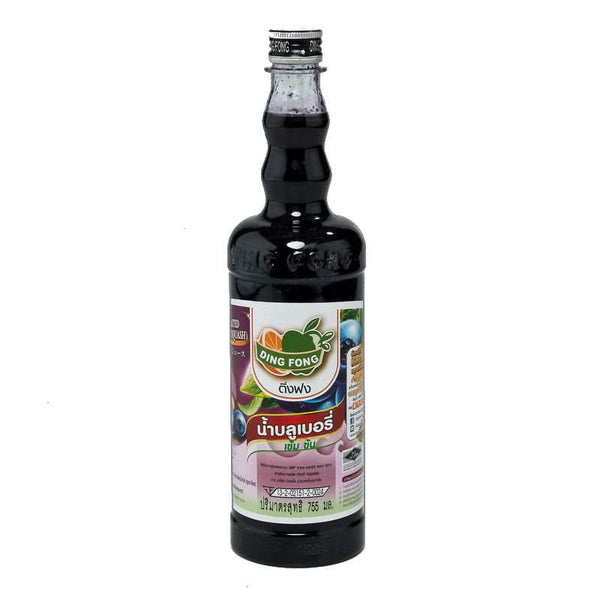 DING FONG BLUEBERRY SQUASH BOTTLE. 755 ML.