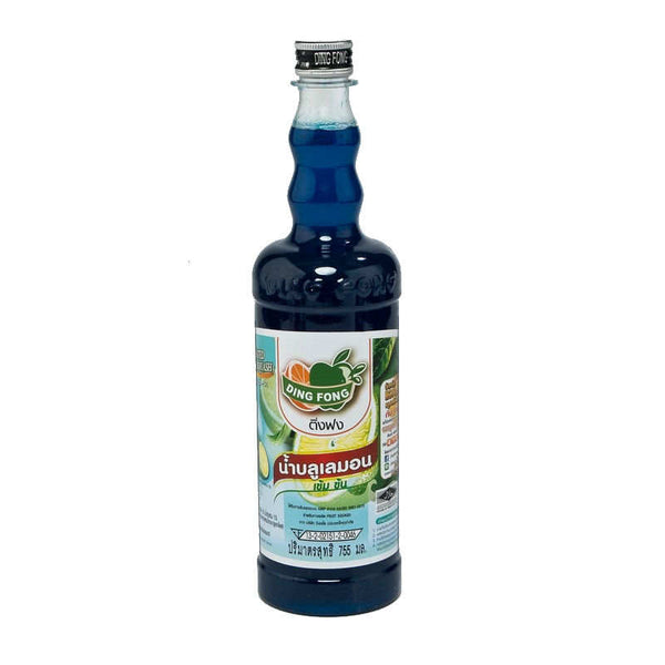 DING FONG BLUELEMON SQUASH BOTTLE. 755 ML.
