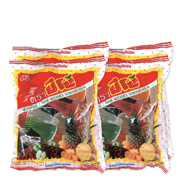 PIPO JELLY MIXED FRUIT FLAVOUR 25 cups x 4 packs