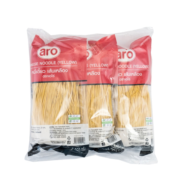 ARO YELLOW NOODLES 350 G. PACK. 3 UNITS.