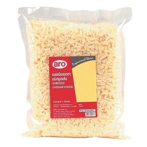 ARO SHREDED CHEDDAR CHEESE 1KG*1