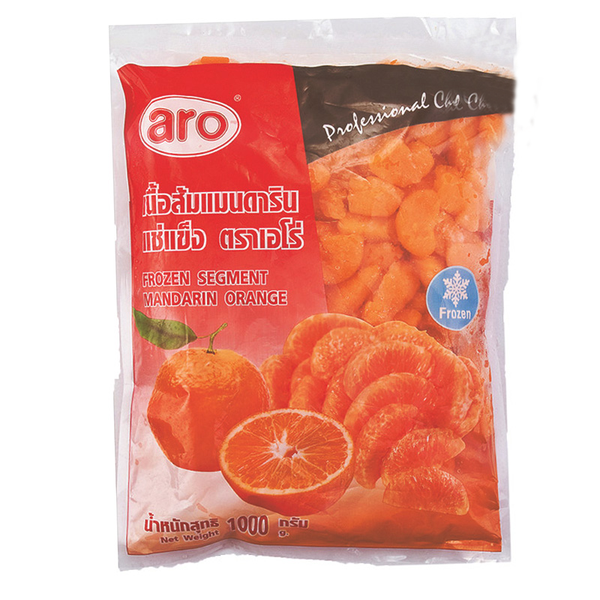 ARO IQF MANDARIN ORANGE SEGMENT PACK. 1000 G