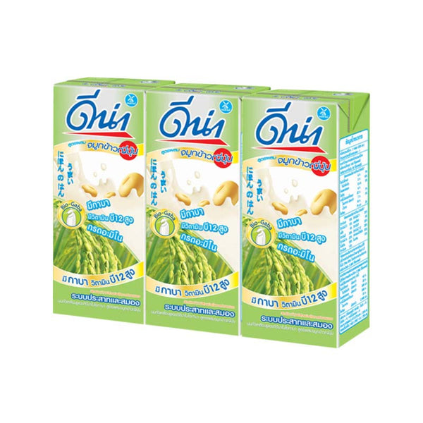 Soy Milk with Japanese Rice Germ 180 g x 3 pcs