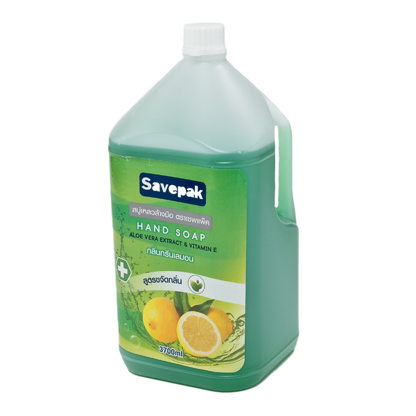 SAVEPAK LIQUID HAND SOAP GREEN LEMON 3700 ML*1