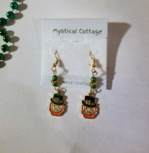 IRISH LEPRECHAUN DANGLE EARRINGS