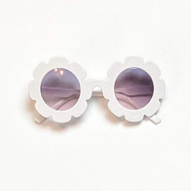 white toddler flower frame sunglasses