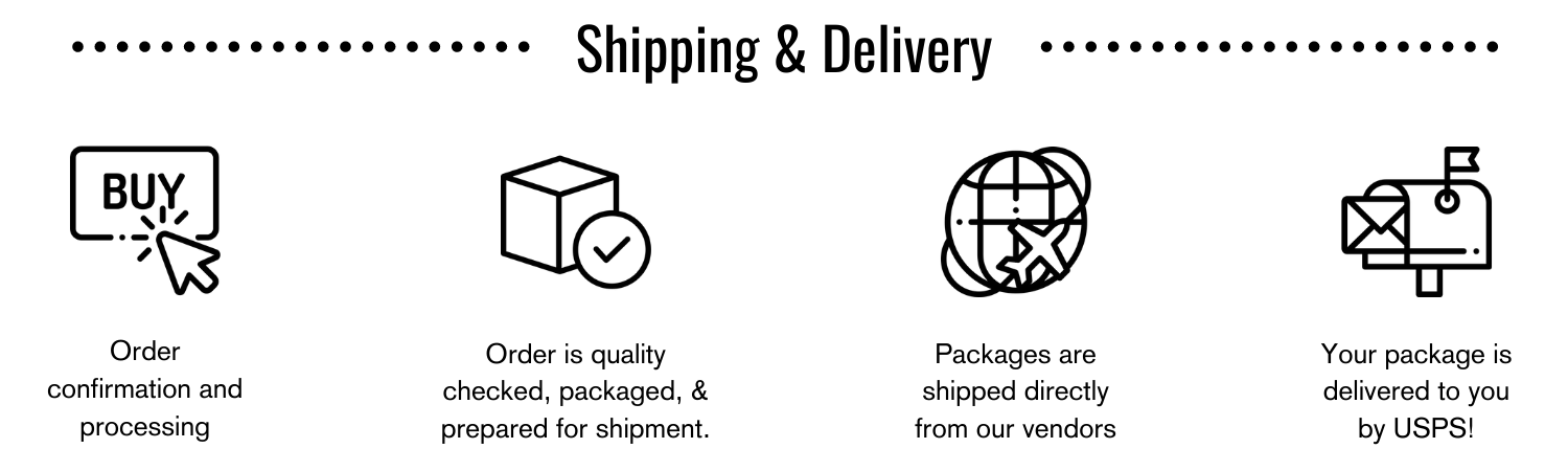 Shipping & Delivery Overview with Icons