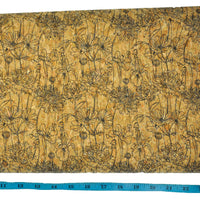 "25"" Cork Fabric by the Yard - Sketch Print Style #1017"