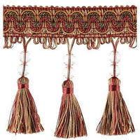 "Fascination-4 1/2"" width-BEADED TASSEL FRINGE-BF-1458-81-17 BY THE YARD"