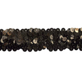 Sequin Trim 1 Inch Wide - Stretchable - 10 Yard Roll