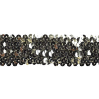 Sequin Trim 1 1/2 Inch Wide - Stretchable - 10 Yard Roll