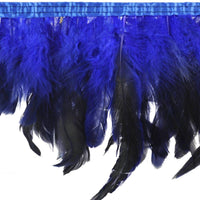 Rooster Feather Fringe with Satin Ribbon Tape Dress