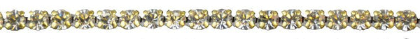 1/8-inch Pointed Back Rhinestone - Gold Backing - BY THE YARD