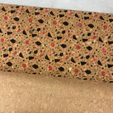 "25"" Cork Fabric by the Yard - Wide Terazzo 4 Style #1024"