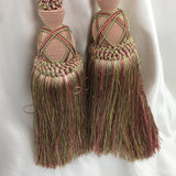 "Double Tie-Back 10"" Tassel 15"" Cord 100% Polyester - Pink/Mint BT-622-20/14 - 1 PC"