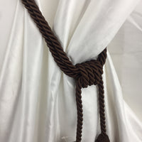 "Double Tie-Back 10"" Tassel 15"" Cord 100% Polyester - Chocolate BT-622-06 - 1 PC"