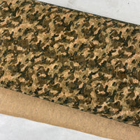 "25"" Cork Fabric by the Yard - Wide Trend Camo Style #1022"