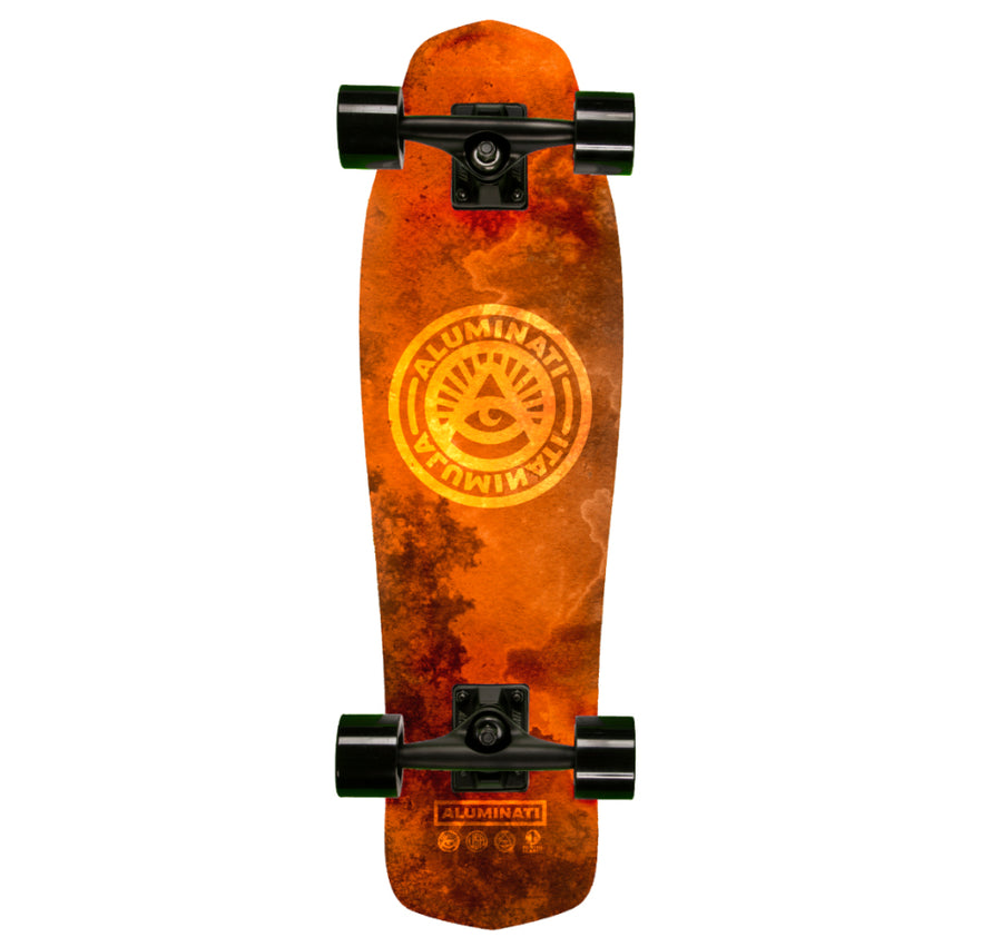 Aluminati Watercolor Burst aluminum Cruiser