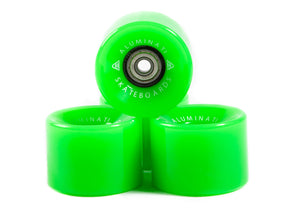 Green Aluminati Skateboard Wheels